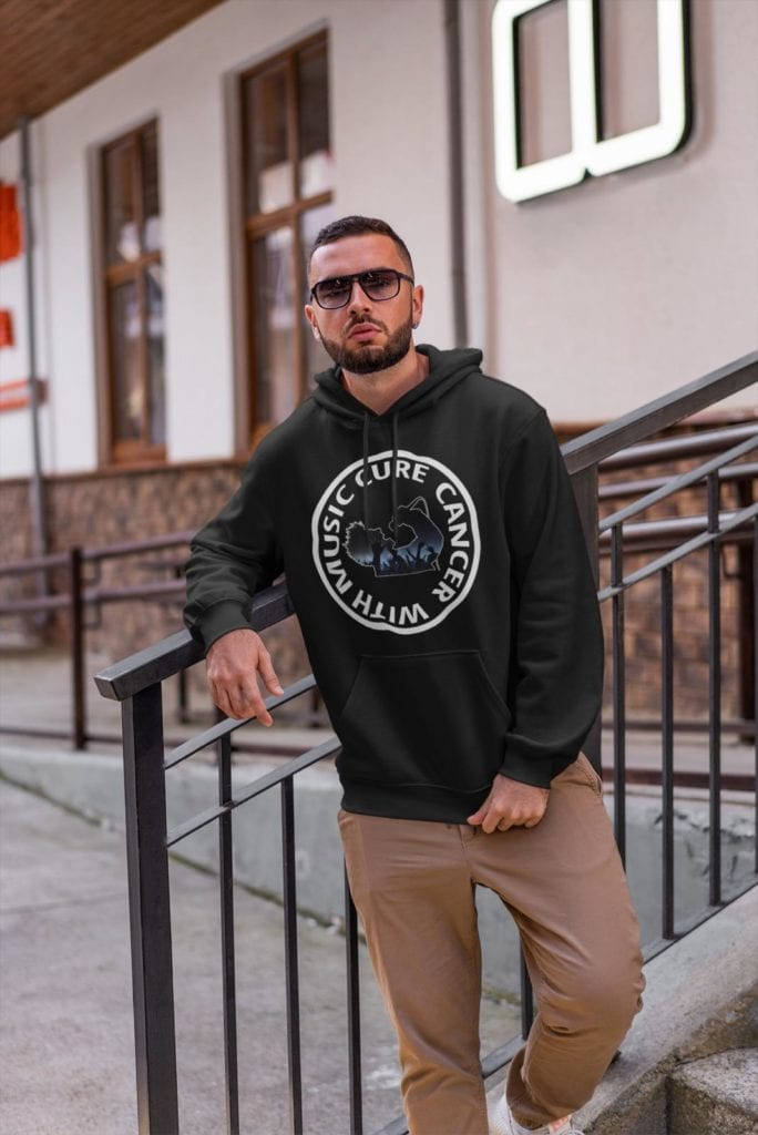 Cure Cancer With Music - Mens Hoody Sweater